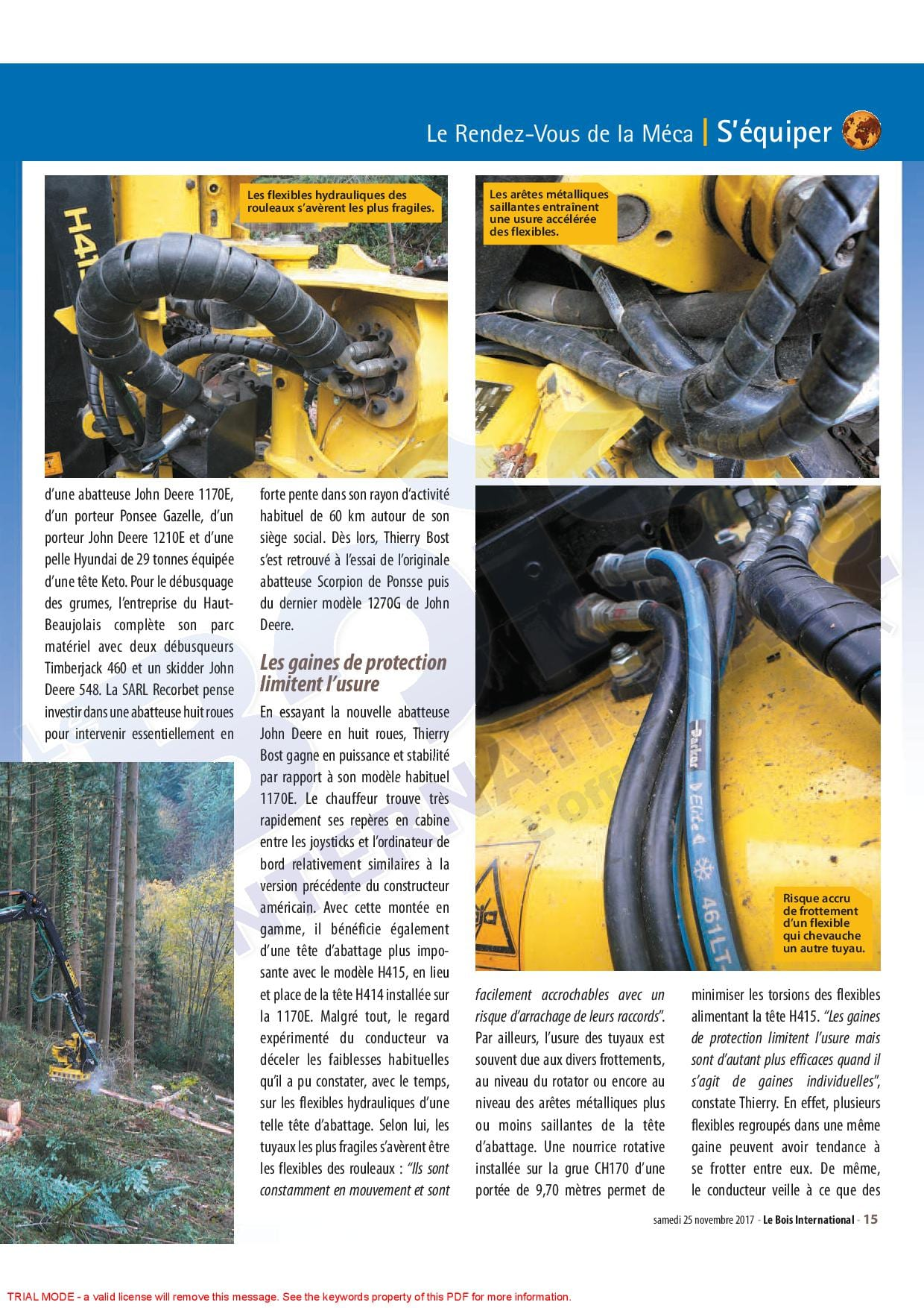 reportage flexible hydraulique